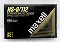 Maxell hs-8 / 112 helical-scan 8 mmデータカートリッジ112 M / 367ftネイティブ容量2.5 GB