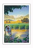 マデラ・ヴィンヤード・ワイン・トレイル - カリフォルニアワインカントリーアート によって作成された カーン・エリクソン - アートポスター - 76cm x 112cm