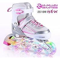 子供用 インラインスケート キッズ ローラースケート ジュニア 女の子 男の子 初心者 向け Inline skate サイズ調整可能 2カラーから選べる