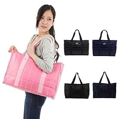 F's MAUMU マザーズバッグ 2way ショルダーバッグ 斜めがけ トート 大容量 軽量 バッグ ビジネスバッグ シンプルなのに機能的 使って分かるママ目線 多機能防水袋付きセット (ピンク)