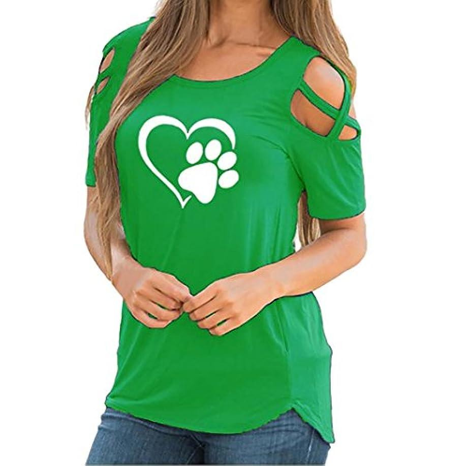 メロディアス効果的にどれかSakuraBest 女性 オフショルダー半袖プリント大サイズTシャツ