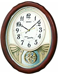 セイコー クロック 掛け時計 電波 アナログ トリプルセレクション メロディ 飾り振り子 木枠 茶 木地 AM257B SEIKO