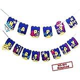 ベビーシャーク ハッピーバースデー バナー パーティー用品 子供と大人用 誕生日パーティーデコレーション