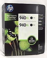 HP CH633BN ツインパック 940XL 大容量ブラックインクカートリッジ 各2,200ページ分。 適合機種: HP OfficeJet Pro 8000/8500/8500A/A910/A910G/A910N (CH633FN/C4906AN/C4906AN#140/CH633FN#140/CH633BN#140)