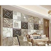 Wuyyii リビングルームのための壁紙現代のファッションステレオ大理石の質感ソフトパッケージヨーロッパのテレビの背景の壁の3D壁紙