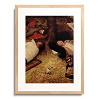 ピーテル・ブリューゲル(父) Pieter Bruegel (Brueghel) de Oude 「Das Schlaraffenland. Detail: Kopfe der drei Manner und laufendes Ei.」 額装アート作品