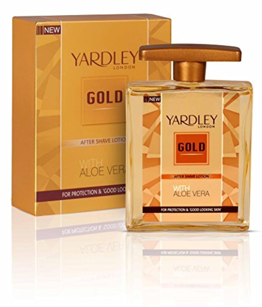 民間粉砕する苦味Yardley London After Shave Lotion Gold 100ml by Yardley