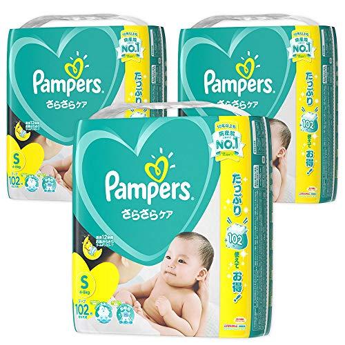『【ケース販売】 パンパース テープ S(4~8kg) さらさらケア 306枚 (102枚×3)』のトップ画像