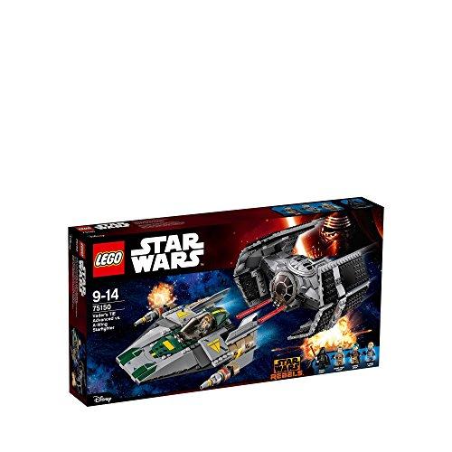 Lego Star Wars Vader's Tie Advanced Vs. A-Wing Starfighter - 75150