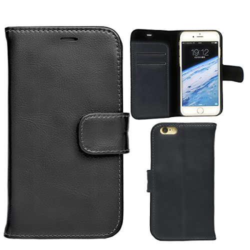 高品質 イタリアンレザー使用 ブラック iPhone6 ケー...