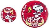 広島東洋カープ 2017セ・リーグ優勝記念 スヌーピー×CARPコラボ 缶バッジセット Let's(レッツ)