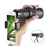 アウトドア用品 スマホレンズ SGODDE 単眼鏡 16X52 カメラ ズーム レンズ 携帯便利 取り付け簡単 クリップ式 66-8000メートル 三脚付き アウトドア キャンプ 登山 スポーツ観戦 野鳥観察に最適