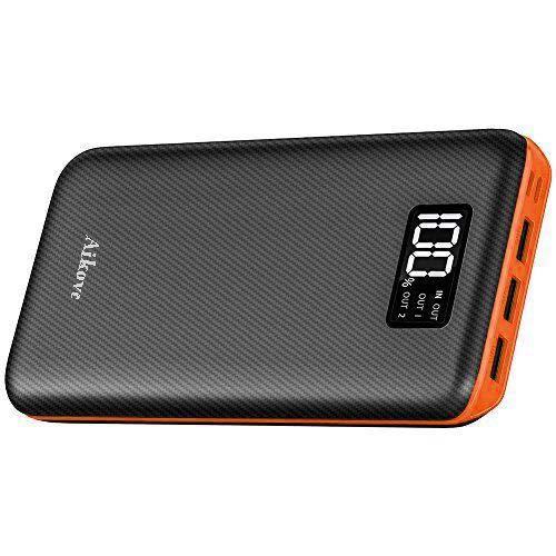 Aikove モバイルバッテリー 大容量 24000mAh 急速充電 2USB入力ポート(2.4A+2.4A) 3USB出力ポート (2.4A+2.4A+2.4A) 三台同時充電でき iPhone/iPad/Android各種対応 地震/災害/旅行/出張/アウトドア活動などに大活躍