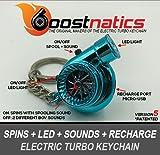 boostnatics充電式電動電子ターボキーチェーンwithサウンド+ LED 。–ブルー新しいバージョン5( v5)