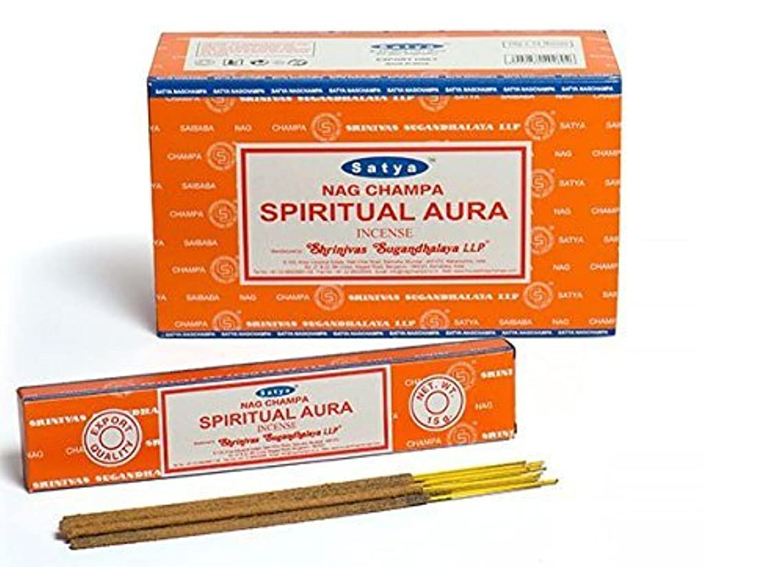 ドロー推進力ビバSatya Spiritual Aura Incense Sticks 180グラムボックス