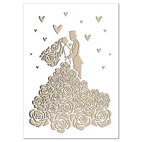 ウエディングレーザーカット二つ折りカード 結婚祝 ウエディング QR2806 グリーティングカード アームカンパニー