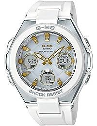 【セット】クロス・1本用時計ケース(WH)付 [カシオ]CASIO 腕時計 BABY-G ベビージー ジーミズ 電波ソーラー MSG-W100-7A2JF レディース