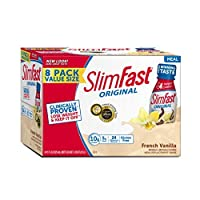 SlimFast Original French Vanilla Shake ? Ready to Drink Weight Loss Meal Replacement ? 10 of protein ? 11 fl. oz. Bottle ? Pack of 8 [並行輸入品]