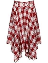 (アリスズピッグ) Alice's Pig アシメントリック スカート レディース Darcey's Django Skirt Red