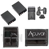 2en-el9電池for Nikon +車/ホーム充電器+ acuvarバッテリーポーチfor Nikon d40、d60、d40X、d3000、d5000カメラと他モデル。。。