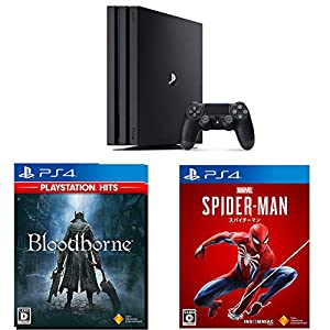 PlayStation 4 Pro ジェット・ブラック 1TB + 【PS4】Marvel's Spider-Man(Amazon.co.jp限定特典付) + Bloodborne - PlayStation Hits セット