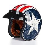 バイクヘルメット ヘルメット ジェット 男女共用 3/4ヘルメット ハーレー ゴーグルをプレゼント PSC付き AN-24[商品01/XXL]