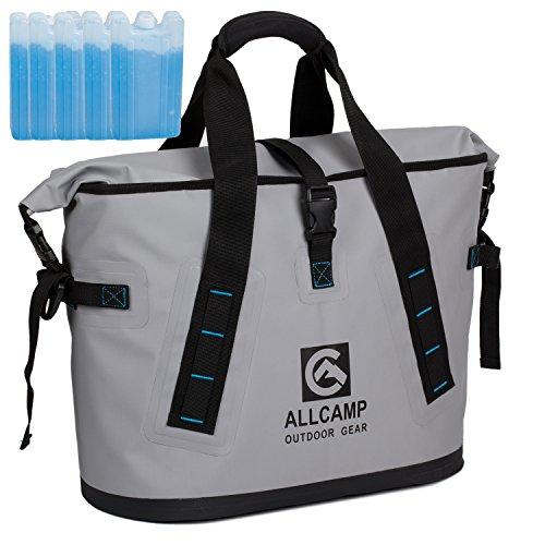 ALLCAMP 防水クーラーバッグ 保冷バッグ 100%漏れ防止 クーラーボックス キャンプ アウトドア 食品冷蔵と...