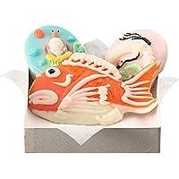 梅かま 飾りかまぼこ お慶びセット3 小玉鶴亀・1号鯛セット