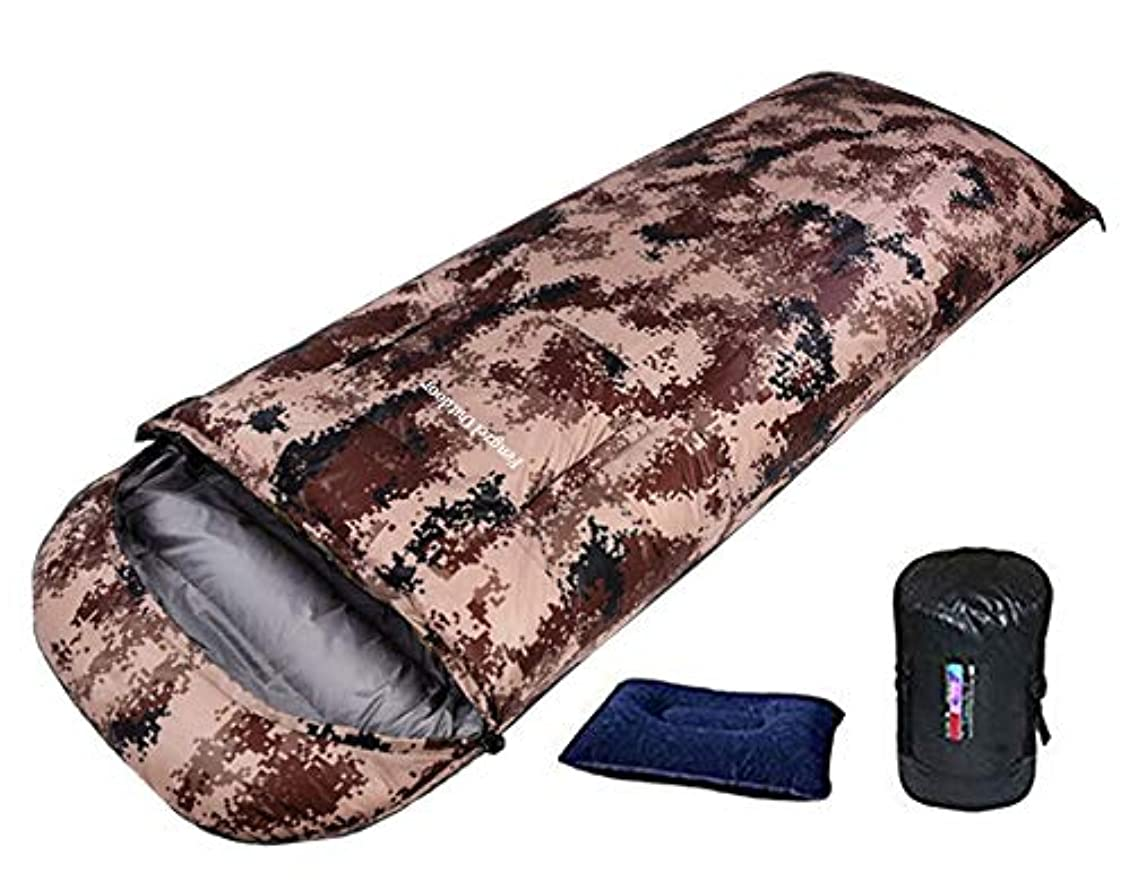 億歌手値Fengzel Outdoor 手が出せる寝袋 1200-2500g高級ダウン詰め 230*90cm大きいサイズ 身長高い/太め方に 極限耐寒 封筒型 羽毛シュラフ