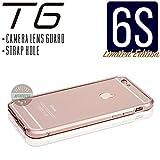 iPhone6s ケース T6 メタルバンパー 高品質アルミ製 カメラレンズガード・ストラップホール付(iPhone6s, ローズゴールド)