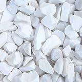 天然石 砕石砂利 スノーホワイト 3-4cm 30kg