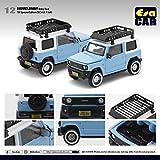 EraCar 12 1/64 スズキジムニーSuzuki Jimny ダイキャスト製 ブルー ルーフキャリア 付 (初回生産限定)