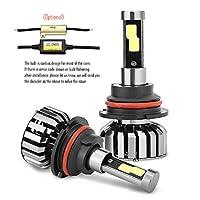 Wiseshine 9007 hb5 (Hi/Lo) 6000K 80W 高効率 LED ヘッドライト一体型 COB led 電球 canbusデザイン8000 Lumen ( クールホワイト)