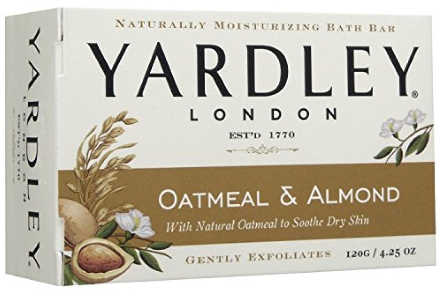 活気づける設置一晩Yardley London (ヤードリー ロンドン) オートミール&アーモンド モイスチャライズ バス ソープ 120g [並行輸入品]