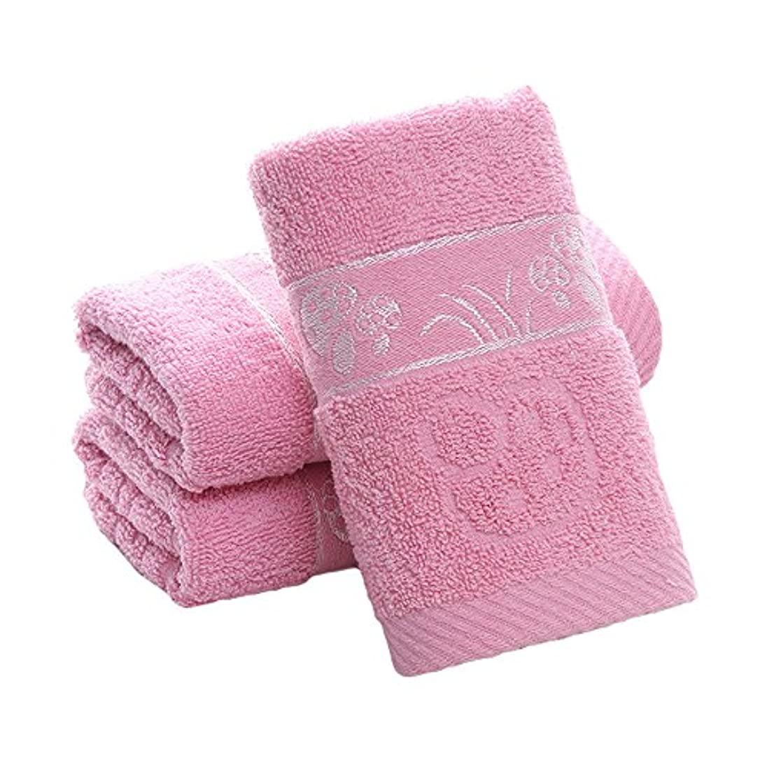記念日急ぐ守る3枚セント フェイスタオル 厚手 安い おしゃれ 人気  抗菌 吸水 ピンク