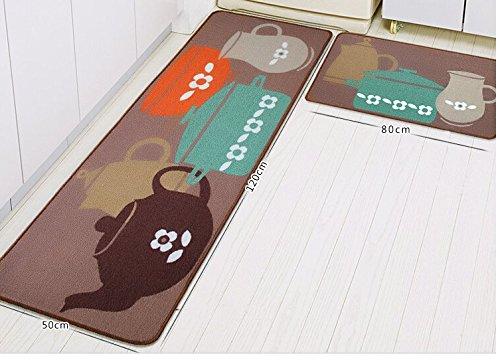Nelipo 玄関マット 日式 キッチン・洗面所用 泥落としマット 滑り止め 屋外 室内 丸洗い可能(50*80cm+50*120cm)