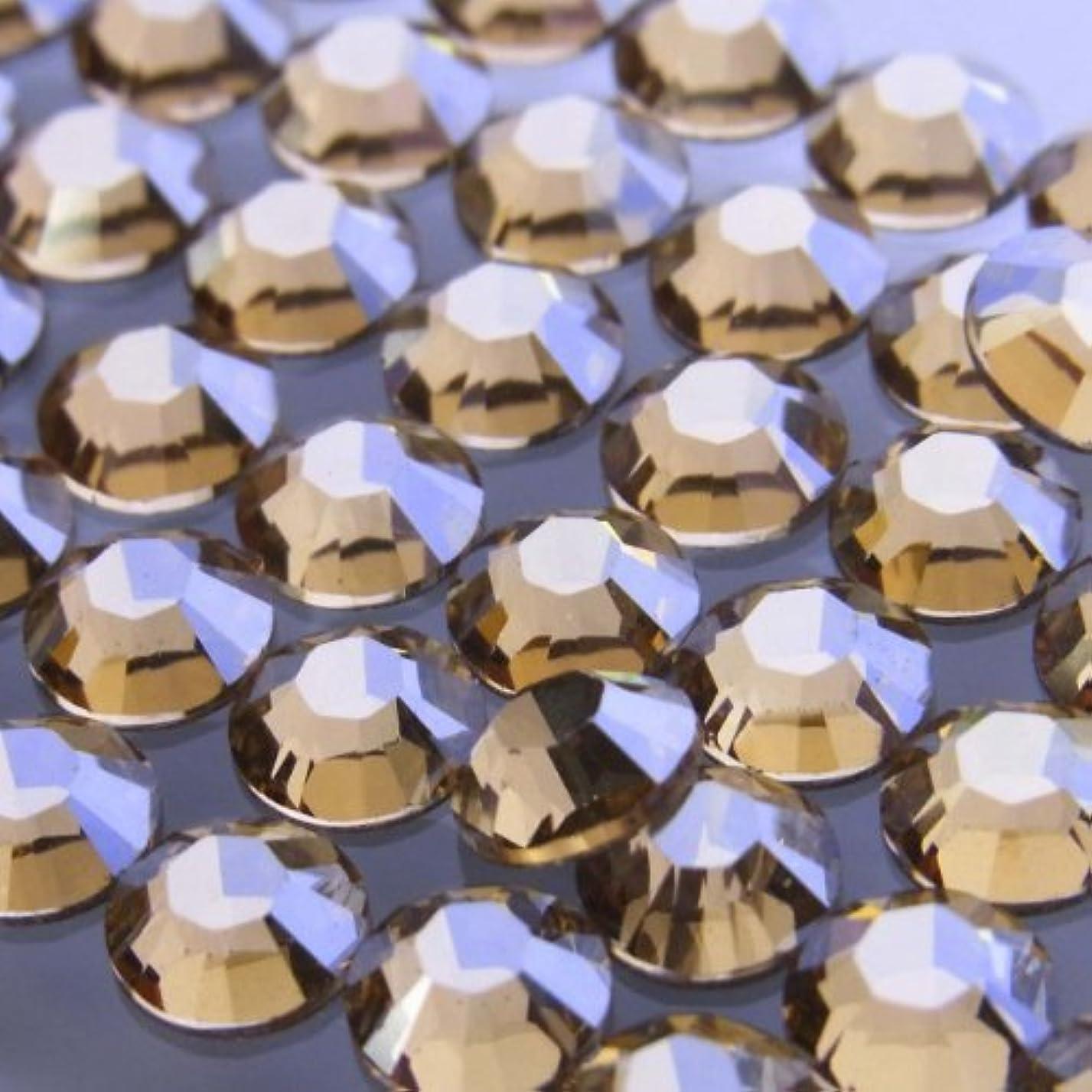 広範囲事業熟す2058クリスタルゴールデンシャドウss7(100粒入り)スワロフスキーラインストーン(nohotfix)
