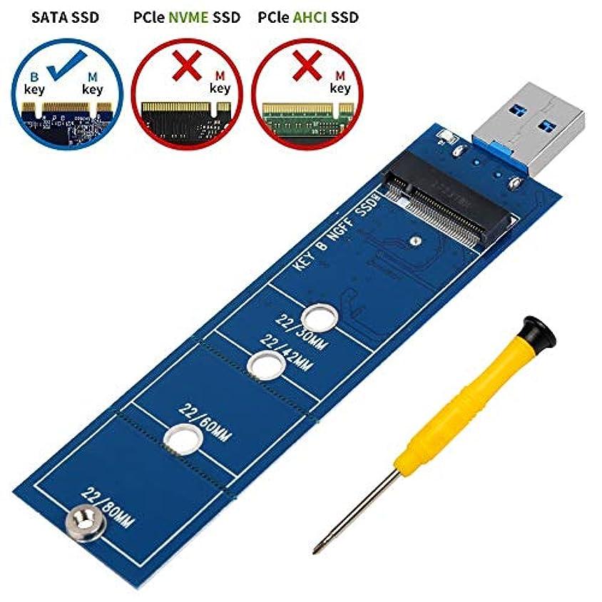 デンプシースプレーロックB & Mキー基づいてポータブルフラッシュドライブ/外付けハードドライブ、2230 2242 2260 SSD to usb3 . 0アダプタ、NGFF M。2 2280 SATAソリッドステートドライブリーダーコンバータ(ケーブル必要ない)