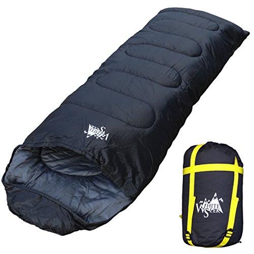 WhiteSeek 寝袋 シュラフ 封筒型 【最低使用温度-15℃ 1760g】