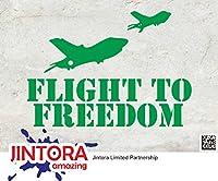 JINTORA ステッカー/カーステッカー - FLIGHT TO FREEDOM - Military - フリー・トゥ・フライト - 軍事 - 139mm x96mm - JDM/Die cut - 車/ウィンドウ/ラップトップ/ウィンドウ- グリーン