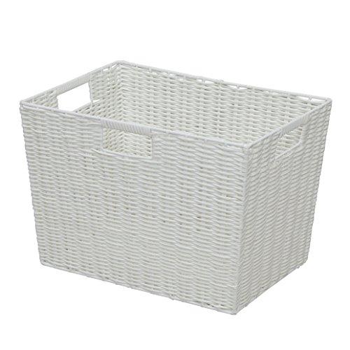 RoomClip商品情報 - アイリスオーヤマ バスケット カラー編み 深型 幅38×奥行26×高さ26㎝ ホワイト KAB-38D