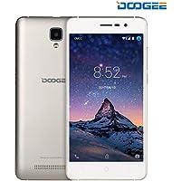DOOGEE X10 SIMフリースマートフォン デュアル SIMフリー 5.0インチHD IPS スクリーン3G (au不可) Android 6.0 MT6570 8GB ROM 5MP 3360mAhバッテリー スマートフォン本体 ゴールド