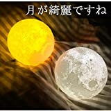 Tooge ボール型ライト 月のランプ 屋内インテリア照明 3Dプリント USB充電式 無段階調光 温白色・オレンジ色切替 タッチスイッチ LED省エネ 癒し オシャレ (直経15cm)