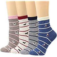 LIVEBEAR Womens Cute Mini Print Funny Novelty Crew Socks Made In Korea