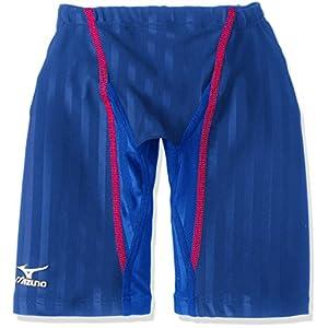MIZUNO(ミズノ) レース用競泳水着 ジュニア(男の子) ストリームアクセラ ハーフスパッツ FINA承認 N2MB642327 140cm ブルー