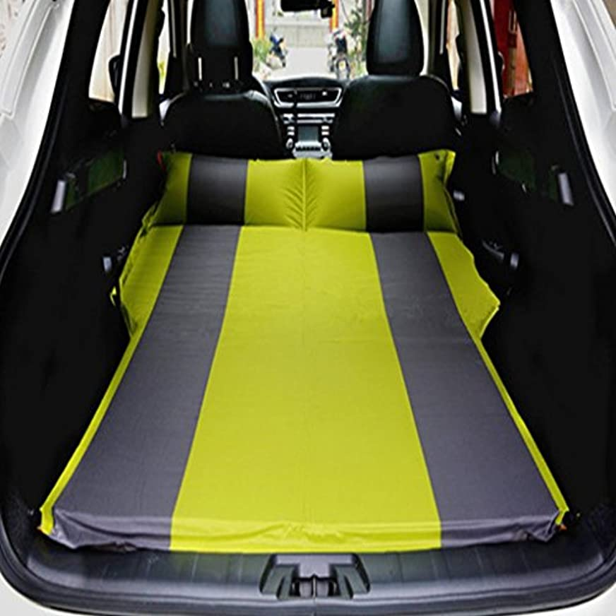 力学作り砂SUVエアベッド、GZD車自動膨張式マットレスSUV、MPV、車、トラック用の拡張クッションスリープソファ。ホーム、車、屋外キャンプユニバーサル、132 * 180センチメートル,Yellow