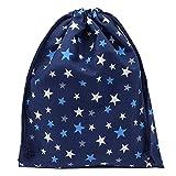 体操着袋 紺×星柄 男の子 女の子 巾着袋 大 ハンドメイド 日本製