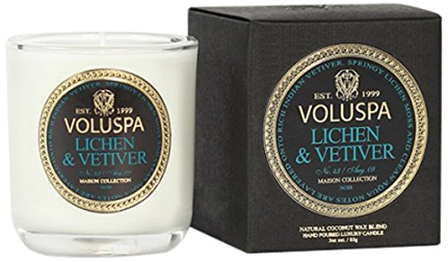 Voluspa ボルスパ メゾンノワール ミニグラスキャンドル ライケン&ベチバー MAISON NOIR Mini Glass Candle...