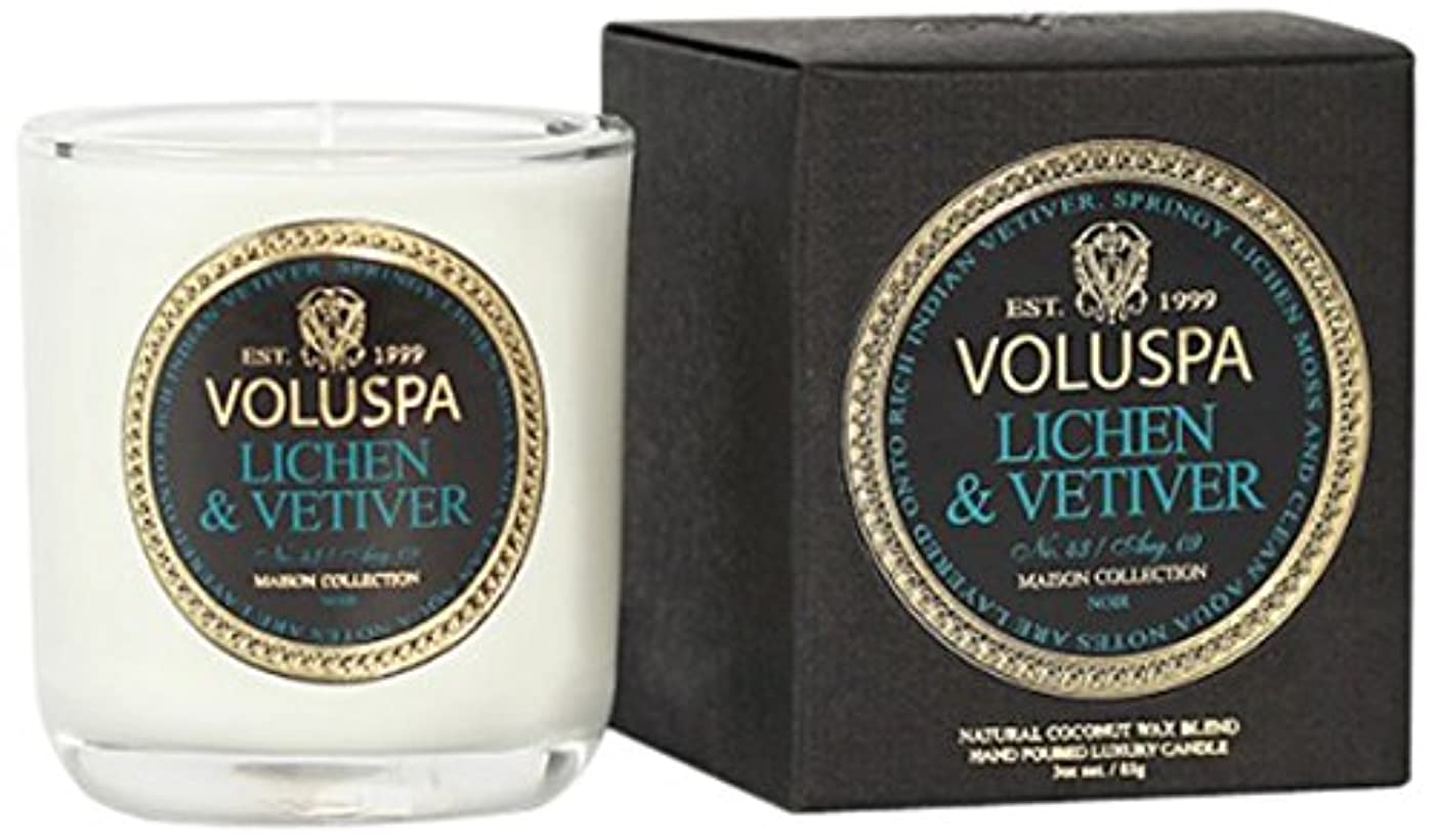 重々しいハッチ余暇Voluspa ボルスパ メゾンノワール ミニグラスキャンドル ライケン&ベチバー MAISON NOIR Mini Glass Candle LICHEN & VETIVER
