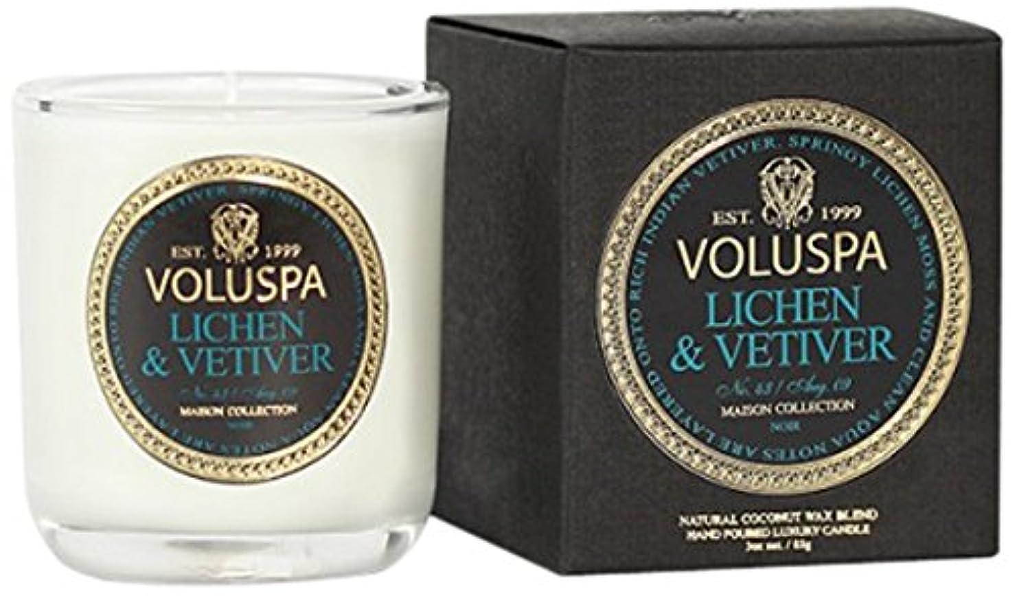 活性化するピースモーテルVoluspa ボルスパ メゾンノワール ミニグラスキャンドル ライケン&ベチバー MAISON NOIR Mini Glass Candle LICHEN & VETIVER